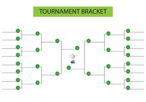 Tournament Bracket Blank Mall Vector