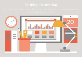 Gratis Vector Desktop Illustratie