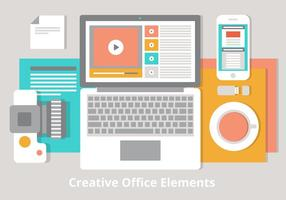 Kostenlose Flat Vector Desktop Illustration
