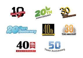 Vector Del Logo Del Aniversario