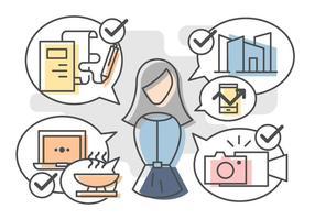 Freie herausragende Multitasking-Vektoren