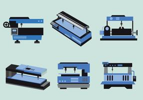 Vatten Jet Machine Flat Vector Illustration