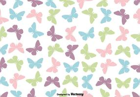 Cute Butterfly Icon Seamless Pattern - Vector