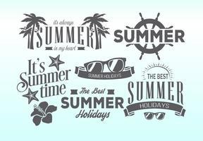 Etiquettes rétros d'été