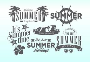 Retro Sommer-Etiketten