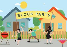 Freie Block Party Illustration
