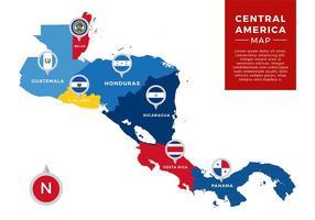 Midden-Amerika Kaart Infographic Gratis Vector