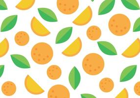 Orange And Green Clementine Pattern vector