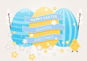 Free Ostern Urlaub Vektor Hintergrund