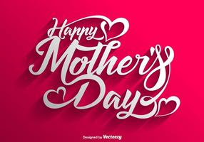 Vector Happy Mother's Day Lettering Background
