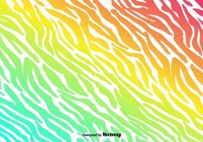 Vektor Färgglada Zebra Stripes Bakgrund