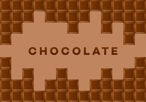 Carta vettoriale di cioccolato