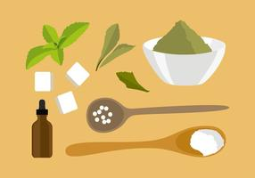 Stevia Ingredientes Vector Libre
