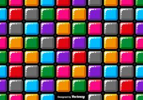 Vector Pixel Art Colorful Blocks Seamless Pattern