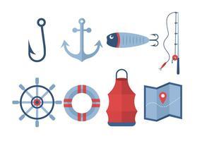 Ícones livres do vetor da pesca