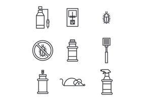 Skisserade ikoner om insektsmedel