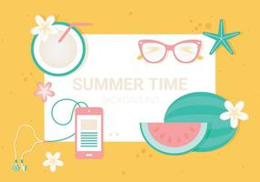 Free Summer Time Vector Illustration