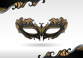 Masquerade Black Mask Vector