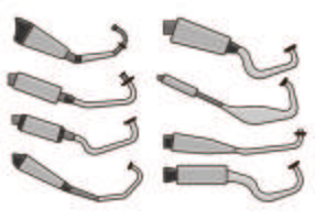 Set Of Muffler Vector
