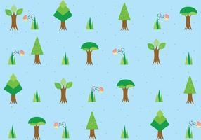 Tree With Roots Pattern Vector