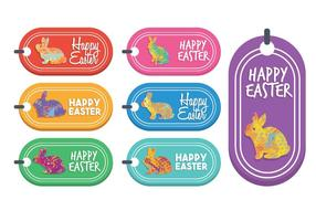 Easter gift tag vector set