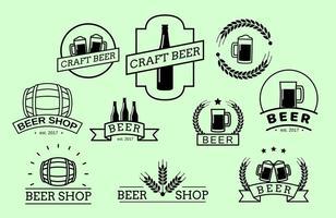 Vecteur de badges de bière gratuit