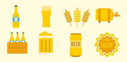 Libere los iconos de la cerveza vector