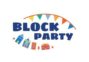Block party illustration