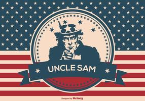 Uncle Sam Retro Patriotische Illustration