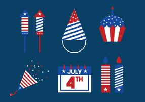 Independence Day Icon Vector Set