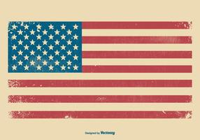 American Grunge Flag Background vector