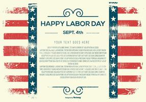 Grunge Happy Labor Day Template