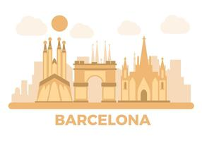 Free Barcelona marco vetor