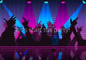 Party Night Background Free Vector