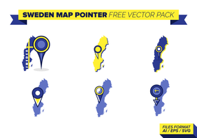 Sverige Karta Pointer Free Vector Pack