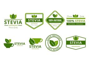 Livre Stevia Logo e Badges Vector