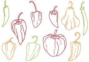 Free Peppers Vectors