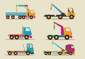 Towing Truck Service Vector Flat Illustration