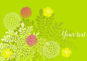 Decorative-green-floral-background