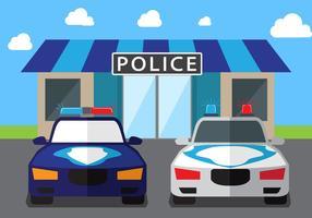 Fondo del vector del coche de policía