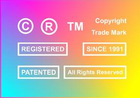 Copyright Gepatenteerde Gratis Vector