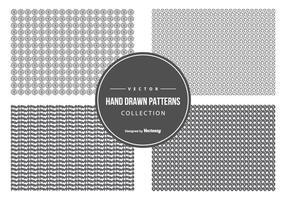 Nette Hand gezeichnete Muster-Sammlung