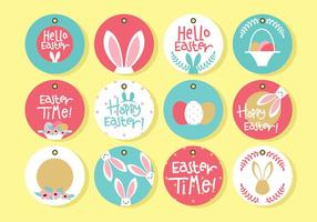 Cute easter vector labels download free vector art stock circle easter gift tag negle Images
