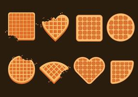 Belgien Waffeln Illustration Set
