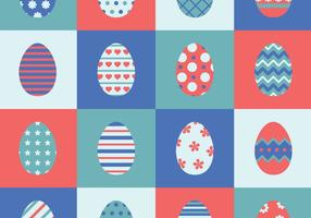 Set Of 16 Easter Eggs vector