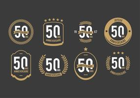 Free 50th Anniversaire Vectors