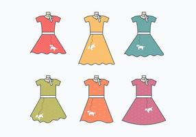 Poodle Skirt Collection vector