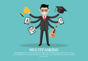 Multitasking Vector Illustration