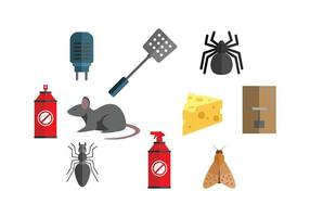 Exterminator Icon Set Vector