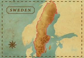 Mapa de Sweden do vintage